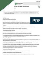 NTP 113 Toma de Muestras de Vapor de Mercurio (PDF, 158 Kbytes)