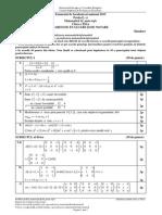 Simulare Matematica Mate-Info 2015 clasa a XII-a barem de corectare