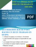 Laura Alzate Sanchez 7E Liderazgo y Trabajo en Equipo