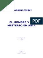 Ossendowski, Ferdinand - El Hombre y El Misterio en Asia