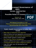 Pro-People Governance of UHC- Issues and Challenges
