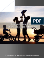 A Pro-Growth, Pro-Family Tax Reform Plan
