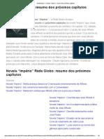 """RedeNotícia — Novela """"Império""""_ Resumo Dos Próximos Capítulos"""