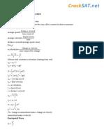 Sat II Physics Key Points
