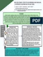 DETERIORO DE LAS FUNCIONES EJECUTIVAS Y DEFICITS DE MEMORIA ASOCIADOS AL CONSUMO DE DIFERENTES SUSTANCIAS PSICOACTIVAS