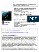 Application of CNT Nanofluids in a Turbulent HE