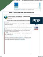 Internet Explorer Content Advisor - Enable or Disable