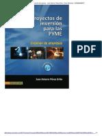 Proyectos de Inversión Para Pymes