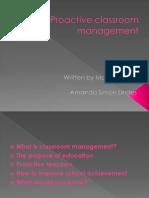 Proactive Classroom Management