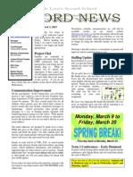 Newsletter Vol 6 - 03 March 2015