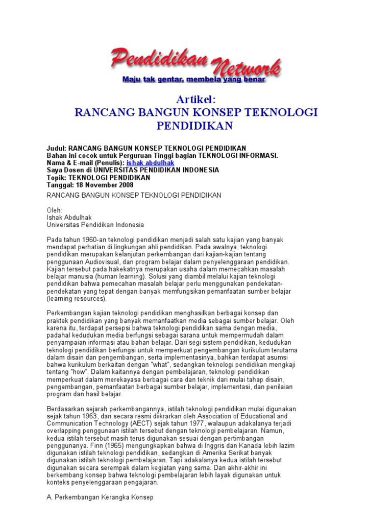 Artikel Rancang Bangun Konsep Teknologi Pendidikan