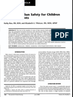 sun safety for children and adolescents