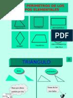 Áreas y Perímetros de Los Cuerpos Elementales