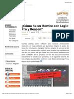 Rewire Con Logic Pro y Reason