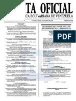 Sumario Gaceta Oficial 39.352