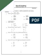 Trigonometry Paper Atul & Silvassa