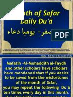 Safar Month Dua