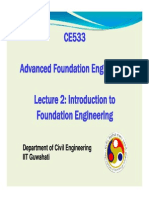 CE 533 Lecture 2 Introduction to Foundation Engineering
