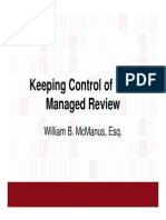 Keeping Control of Your Managed Review