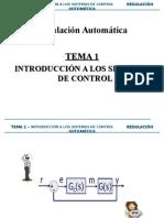 Tema1 - Introducción a Los Sistemas de Control