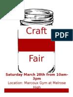 MHS Craft Fair Flyer