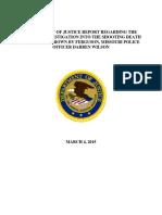 DOJ Report on Shooting of Michael Brown