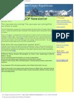 January 25, 2010 - Adams County GOP Newsletter