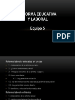 Reforma Educativa y laboral en México
