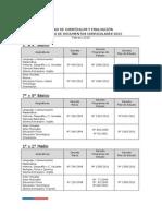 curriculum año  2015  Chile