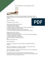 Escalopes de Filé Mignon Flambados Com Champignons Paris