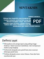 definisi sintaksis