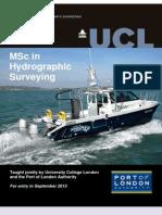 MSc Hydrographic Surveying Brochure 2013
