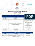 Agenda - Asia Helping Babies Survive Workshop