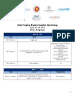 Agenda - Asia Helping Babies Survive Workshop
