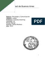 Parcial de Psicologia - UBA - CC - Lutzky