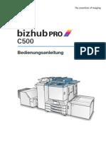 Bizhub Pro c500 UM de 1.1.1