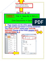 Formatting a Word Document