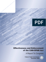 Effectiveness and Enforcement  of the CAN-SPAM Act