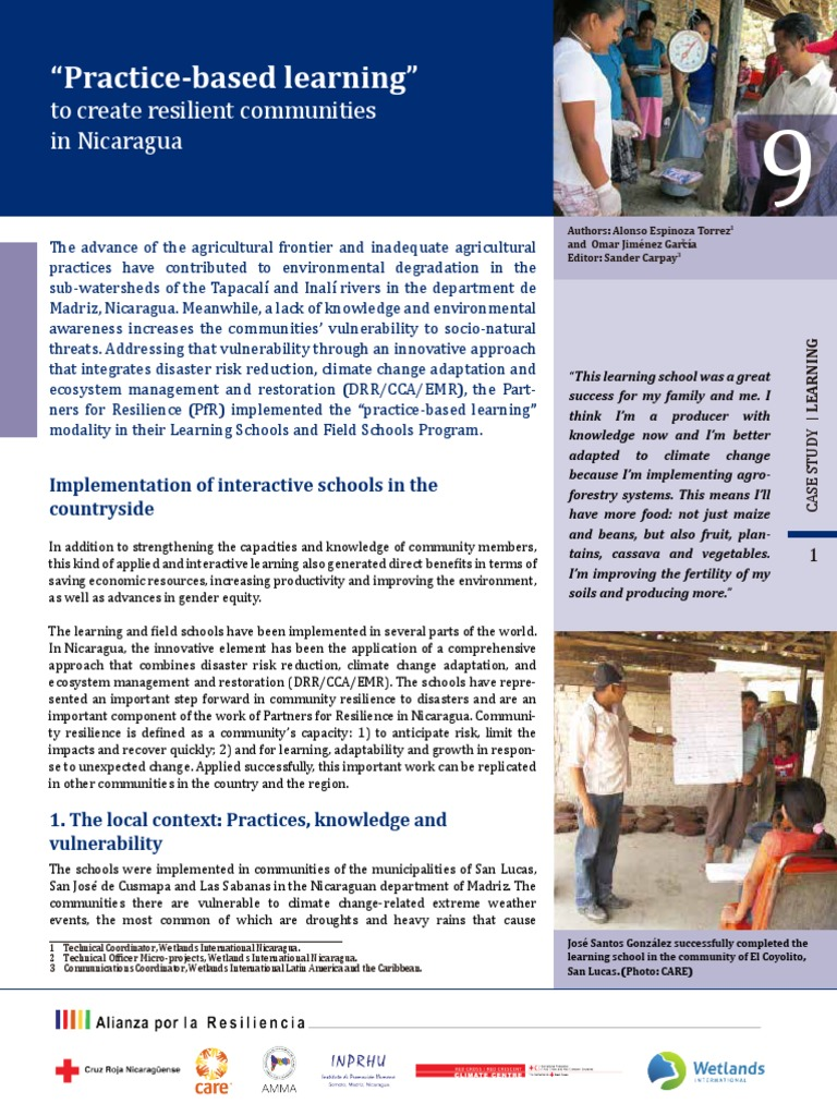 Great savings and offers incommunities - Case Study 9 Practice Based Learning To Create Resilient Communities In Nicaragua Ecological Resilience Agriculture