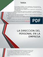 La Direccion Del Personal en La Empresa