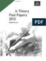 ABRSM Theory- Grade 1 - 2012