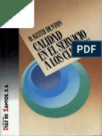 Calidad en El Servicio a Los Clientes 1ed - D. Keith Denton