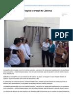 04-03-2015 Inauguran el nuevo Hospital General de Caborca.