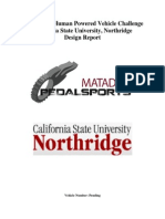 ASME HPV 2011 Report_California State University Northridge