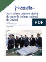 03-03-2015 E-consulta.com - RMV Coloca Primera Piedra de Segunda Bodega Regional de Coppel