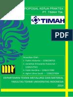 Proposal Kerja Praktek PT Timah Persero TbK