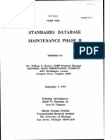 Standard Database Maintenance Phase II