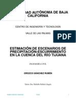 TESIS ESTIMACION ESCURRIMIENTO CUENCA RIO TIJUANA