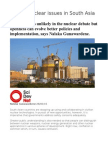 Critical Nuclear Issues in South Asia