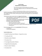 final portfolio requirements